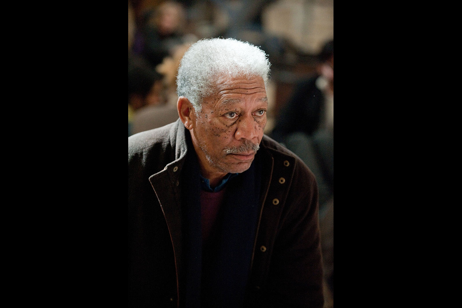 Morgan Freeman owns the screen once again as Lucius Fox